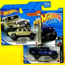 Hot Wheels 2021 - Lot of 2 - '20 JEEP GLADIATOR - Short Card & New Blue - E77