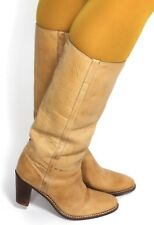 Damenstiefel Vintage Stiefel Boots Leder Heels Langschaft Samello Brazil 37