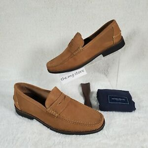 Peter Millar Hyperlight Hand-sewn Suede Penny Shoes Mens Sz 10.5 MF20F63  $249
