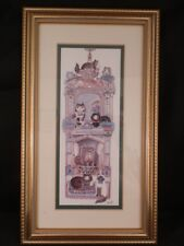STUNNING DIANE ELSON WOODEN FRAMED HAND MADE PICTURE ''FIREPLACE''
