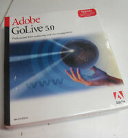 Adobe GoLive 5.0 (Retail) (1 User/s) - Full Version for Mac 13200146  New Sealed