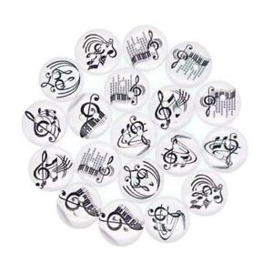 Musical Instrument Wooden Buttons Quaver Treble Clef Music Notes