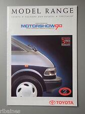 R&L Sales Brochure: Toyota UK Range 1990 Motor Show Celica/Supra/Landcruiser