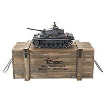 Torro 1/16 Rc Panzer Pzkpfw III Modèle L Bb Professionnel Métal Édition
