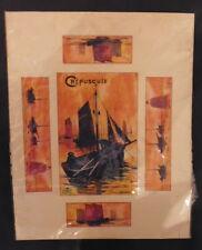 """Reproduction de """"Crépuscule"""", peinture de Louis Garin"""