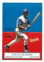 2004 BAZOOKA BASEBALL STAND-UPS CARD #15 CARLOS DELGADO BLUE JAYS