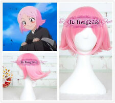 Bleach Kusajishi Yachiru/Sword Art Online 30cm pink Short Cosplay Wig+a wig cap