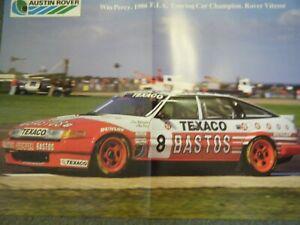 TWR BASTOS ROVER SDI WIN PERCY 1986 POSTER AFFICHE FIA TOURING CAR CHAMPION