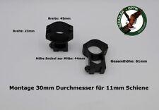 Montage für Zielfernrohr  30er MR - Jagd Gewehr