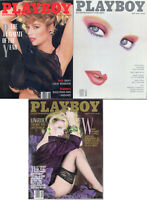 PLAYBOY 1988 Lot of 3-Lingerie, Oliver North,Don King Interview,Playmate Of Year
