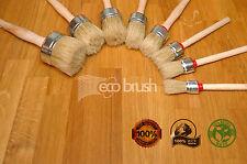 eco50 40 35 30 25 20 PAINT BRUSH SET 6 SHABBY CHIC CHALK WAX PURE BRISTLE BRUSH