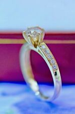 Vintage Jewellery Yellow Gold Ring 1.21 Ct Natural Diamond  Antique Jewelry L