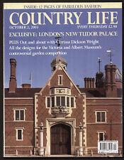 Country Life Oct 2003 CROSBY HALL CHELSEA VICTORIA & ALBERT GARDEN CHINZ TWEED