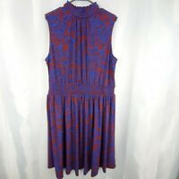 Modcloth Floral Mock Neck Midi Dress Size 2x