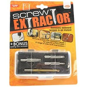 BRAND NEW JML SCREW EXTRACTOR - REMOVES AWKWARD SCREWS IN AN INSTANT - 4 PIECES