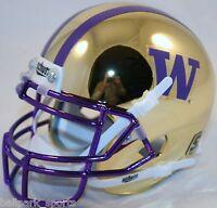 WASHINGTON HUSKIES (GOLD CHROME) Schutt XP Mini Helmet