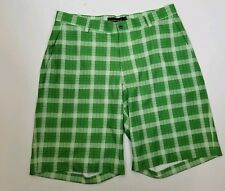 Dunning Men Plaid Fashion Shorts 34w Green