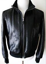 $11995 FREDO FERRUCCI 100% Genuine Python Leather Jacket Size 50 Euro Medium