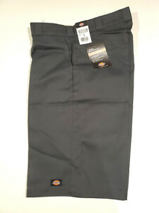 """Dickies Mens Loose Fit 15"""" Inseam Twill Work Shorts, Charcoal, 36"""" Waist"""