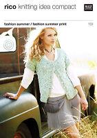 Knitting Pattern ~ Rico 159 for ladies cardigans using Rico Fashion Summer yarn