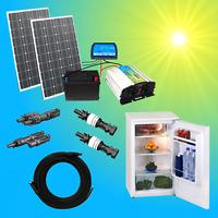 Komplett 220V Solaranlage Kühlschrank 100Ah Akku 200W Solarmodul 1000W Steckdose