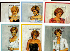 Princess Diana - Togo Sc. #1799 to 1804/06 six S/S of 6 different gowns Sc. $50
