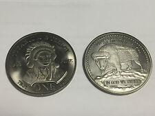 1 oz Unze 999 Titan Titanium Indien Head American Buffalo Medaille Selten