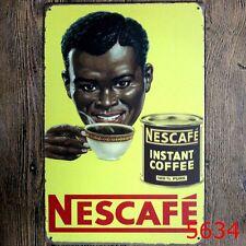 Metal Tin Sign nescafe Bar Pub Home Vintage Retro Poster Cafe ART