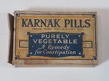 Vintage Karnak Constipation Pills Medicine Prescriptions Pharmaceutical Atlanta