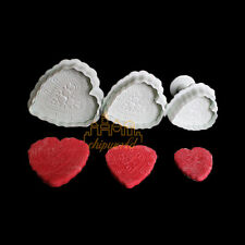Fondant Cake Mold Decorating Baking Embossing Mould Heart Shape Cookies Cutters