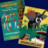 DISNEYLAND Adventureland 2 Poster Prints JUNGLE CRUISE TIKI ROOM Art Decor 3101