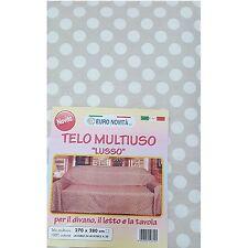 Mobilier de tissu Beige pois blanc 270x280 couvre tout granfoulard Housse Coton