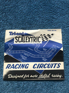 Vintage Triang Scalextric Racing Circuits Booklet Third Edition 1960's FREE Post