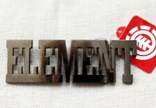 ELEMENT Mens Signature WORD BUCKLE Bronze Dark Silver Extra Large 13cms  NEW