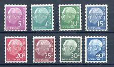 GERMANY FEDERAL REPUBLIC HEUSS LUMOGEN / FLOURECENT VALUES (8) PERFECT MNN