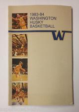 1983-84 Washington Husky Baseketball Media Guide