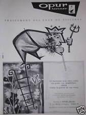 PUBLICITÉ 1958 PISCINES DE VOS RÊVES OPUR TRAITEMENT DES EAUX -  ETS.DEGREMONT