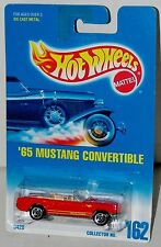 Hot Wheels 65 Mustang Convertible Ford Sp5's Collector #162 Malaysia 1995