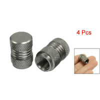 4 pcs Dark Gray Alloy Car Bicycle Tire Tyre Wheel Valve Dust Caps Covers H4J9