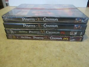 Disney Lot of 4 DVD MOVIES  Pirates of the Caribbean #1-3 + 1 NEW