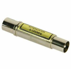 Labgear Attenuator TV 10dB VHF/UHF Signal Reducer Coax Plug to Socket