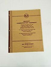 1943 RCA Aircraft Communication Equipment Manual