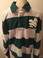 VINTAGE Miami Hurricanes Crable Long Sleeve Striped Rugby Shirt  / Medium M