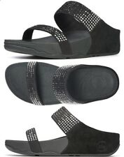Brand New: FITFLOP Womens Flare Slide Sandals Shoes BLACK 8M
