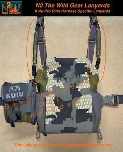 "N2 The Wild Gear Lanyards Kuiu Pro Bino Harness Specific ""LANYARDS"" (2 colors)"