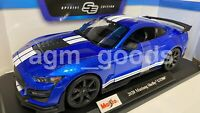 Maisto 1:18 Scale - 2020 Ford Mustang Shelby GT500 - Blue - Diecast Model Car