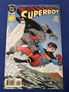 SUPERBOY #9 1st app KING SHARK Suicide Squad movie 1994 DC Comics Key