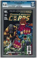 GREEN LANTERN #33 CGC 9.8 (4/09) DC comics white pages