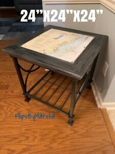 nautical map side table