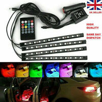 Car Truck Interior Footwell LED Strip Lights RGB Colorful Remote Atmosphere Lamp